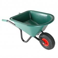 Kinderkruiwagen GROEN metaal/kunststof met Luchtbanden