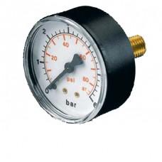 """Manometer 0-6bar ¼"""" achter aansluiting"""