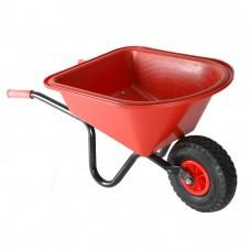 Kinderkruiwagen ROOD metaal/kunststof met luchtbanden